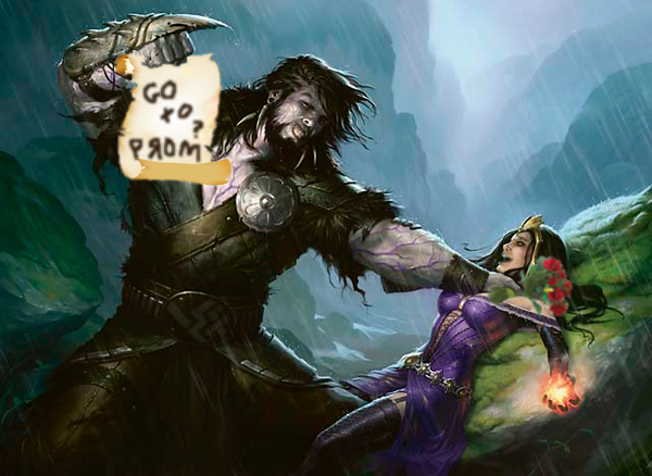 In the next picture Liliana orders her army of minions to tickle Garruk into submission