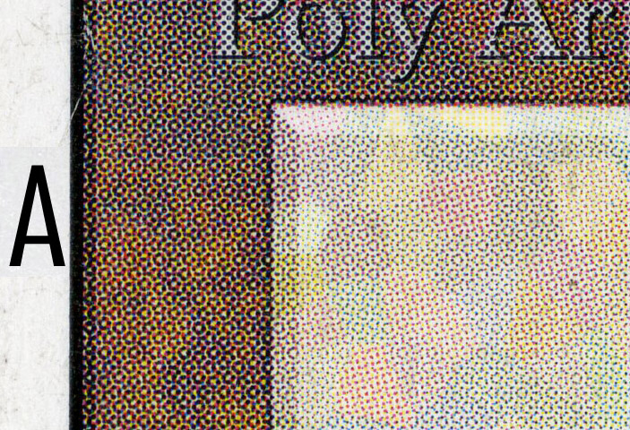 2fdf37548a8 Dot patterns on fake cards are usually much less intricate. This is one of  the easiest things to look for when checking older cards (though to see the  dot ...
