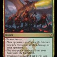 Risen Executioner Creature – Zombie Warrior Risen Executioner can't block Other zombie creatures you control get +1/+1 You may cast Risen Executioner from your graveyard if you pay an additional […]