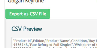 Export the CSV as a file by clicking the nice green button.