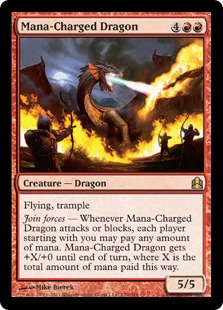Mana-Charged Dragon Spike on TCGPlayer: $15 of Wishful Thinking