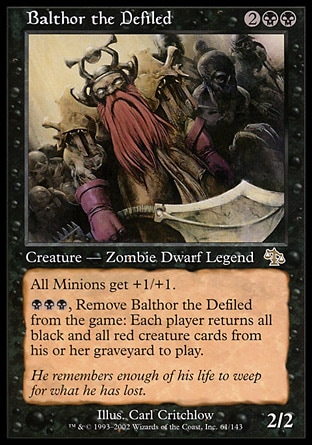One Zombie to Rule Them All! – Balthor the Defiled EDH