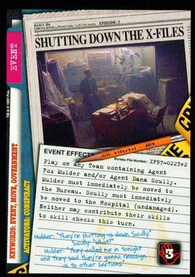 Shutting Down The X-Files